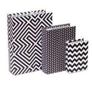 Caixa Livro Geométrico P& B (jogo com 3 peças)