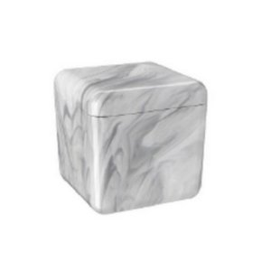 Porta Algodão Cube Cinza Coza