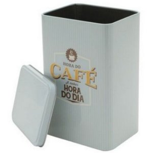 Lata Metal Expresso Coffee Azul