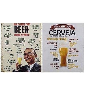 2 Quadros Cartão MDF Cerveja