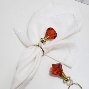 Porta Guardanapo Diamante Vermelho