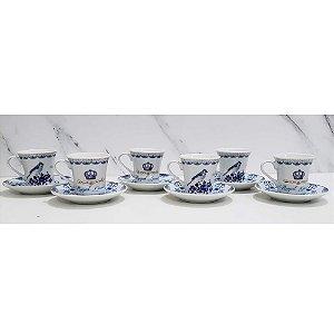 Jogo 6 Xícaras Café Porcelana