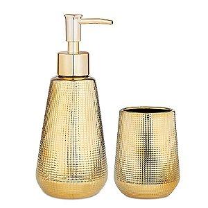 Kit Banheiro 2 Peças Dourado