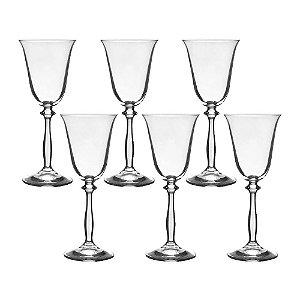 Jogo 6 Taças Cristal Para Vinho Tinto Ângela Bohemia