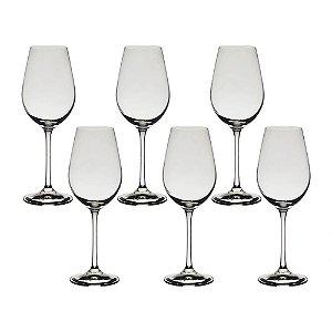 Jogo 6 Taças Cristal Para Vinho Helena Bohemia