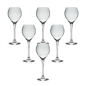 Jogo 6 Taças Cristal Vinho Branco Cecília Bohemia