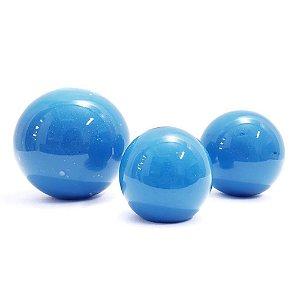 Trio Bolas Azuis Mar Azul