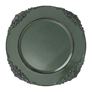 Sousplat Galles Barroco Green Antique Verde Copa&Cia