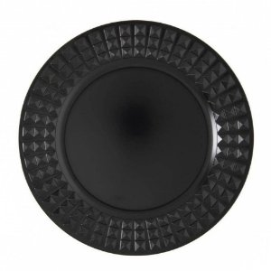 Sousplat Galles Diamonds Black Matte Copa&Cia