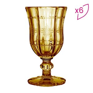 Conjunto 6 Taças Para Champanhe Âmbar
