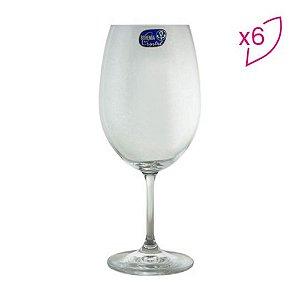 Jogo De Taças Para Vinho Tinto Roberta - Cristal - 6Pçs - 450ml - BOHEMIA