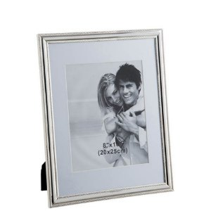 Porta Retrato Strip Prata home Collection