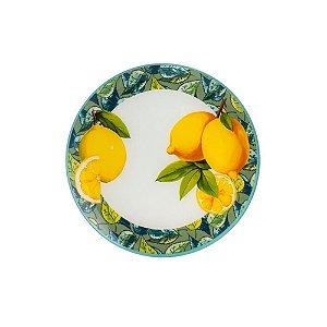 Jogo 4 Pratos Cristal Sobremesa Lemons Amarelo Bon Gourmet