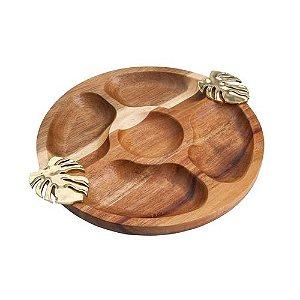Petisqueira Madeira Costela de Adão Dourada Bon Gourmet
