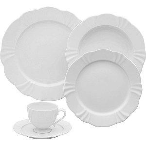 Jogo Aparelho de Jantar/Chá 30 Peças Soleil White Oxford