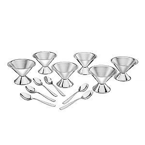 Jogo Taças Para Sorvete Cosmos - 6 Peças - Inox - 160ml - Tramontina