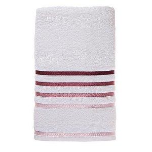 Toalha Banho Lumina Branca/Rosa Karsten