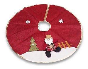 Saia De Juta Tapete Árvore De Natal Boneco Papai Noel 60 Cm