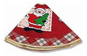 Saia Tapete De Árvore De Natal Papai Noel 60 Cm Forrada