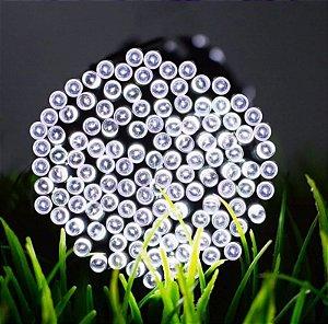 Pisca Pisca Branco Cordão 100 Lâmpadas 127v Led 8 Funções 10m
