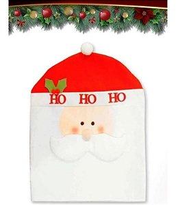 Capa De Encosto De Cadeira Papai Noel Natal Decoração