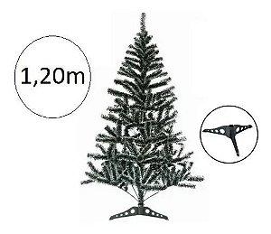 Árvore De Natal Pinheiro Verde E Neve 1.20m 144 Galhos A0032
