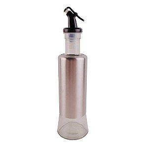 Galheteiro 320ml em vidro/inox para vinagre e azeite