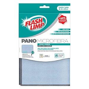 Kit Com 3 Panos de Microfibra para Vidro Flashlimp