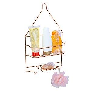 Porta Shampoo e Sabonete Arthi Master Rosé Gold