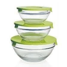 Conjunto de 3 Potes em Vidro com Tampa - Unicasa