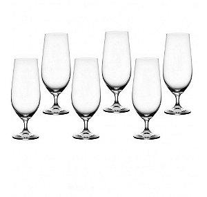 Conjunto de Taças Crystalite p/ Cerveja 6 Peças 380ml Colibri - Bohemia