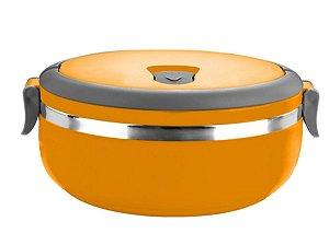 Marmita Térmica e Lancheira Com Alça em Aço Inox Cor Sortida