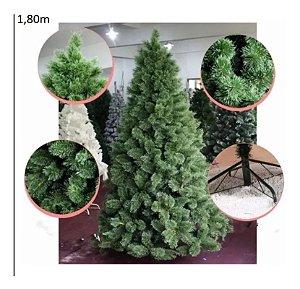 Árvore Pinheiro de Natal 1,80m Modelo Luxo 420 Galhos Nevada A0318N