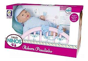 Boneca Ninos Reborn Pesadinho Menino Cotiplás