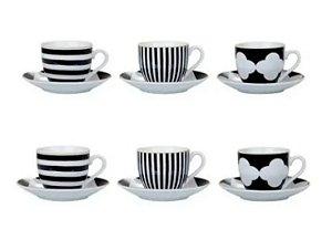 Conjunto de Xícaras Para Chá em Porcelana 12 Peças Kala 220ml