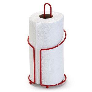 Porta Rolo de Papel Vermelho em Aço Linha Red - Arthi