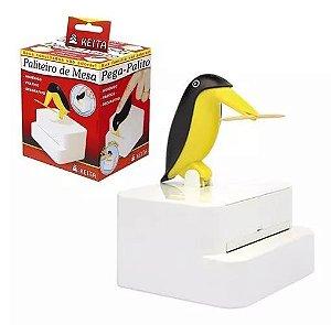 Paliteiro De Mesa Pinguim Vintage Pega Palito De Dente