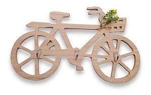 Porta Chave Bicicleta De Madeira Mdf Enfeite 40 Cm