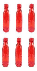 Kit 6 Garrafas Squeeze Treino Plástico Inquebrável