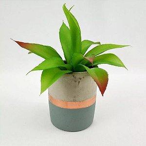 Jogo Com 3 Plantas Artificiais Ornamental Mini Agave 20 Cm Decoração