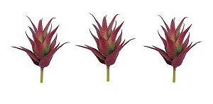 Kit 3 Planta Suculenta Ornamental Artificial 16 Cm Decoração