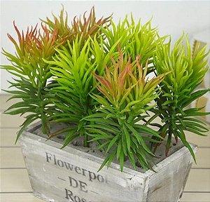 Planta Suculenta Ornamental Artificial 26 Cm Decoração