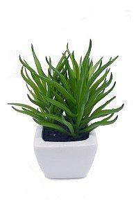 Jogo Com 3 Mini Vasos Planta Suculenta Artificial 12x5 Cm Decoração