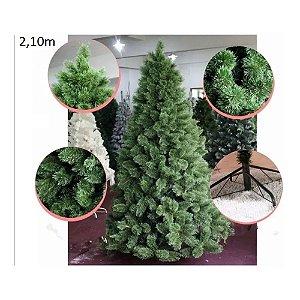 Árvore Pinheiro de Natal 2,10m Modelo Luxo 566 Galhos Nevada A0321N