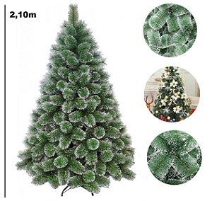 Árvore Pinheiro De Natal 2,10m Floco de neve Luxo 566 Galhos A0621M