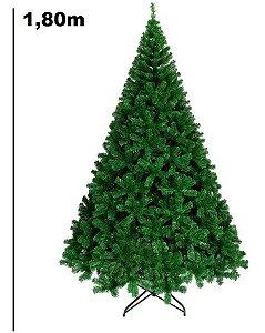Árvore Pinheiro de Natal 1,80m Modelo Dinamarquês 834 Galhos Verde A0718H