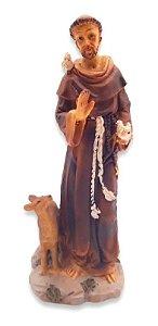 Escultura Estátua De São Francisco De Assis Em Resina 15 Cm
