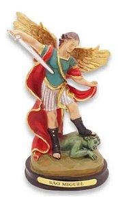 Estátua De Resina Escultura Imagem São Miguel Arcanjo 21 Cm