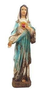 Estátua De Resina Escultura Rústica Da Virgem Maria 38 Cm
