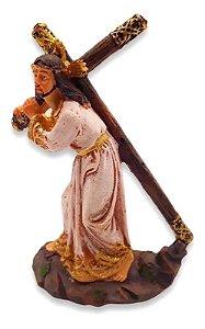 Estátua De Resina Escultura De Jesus Via Sacra 15 Cm